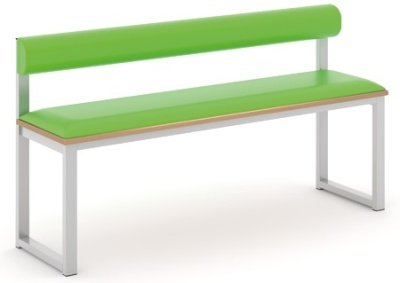 Otto Dining Height Bench With Back