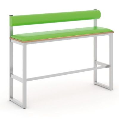 Otto Bar Height Upholstered Bench With Back