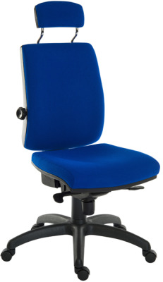 Ergostar 24 Hour Chair With Headrest Blue Fabric