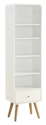 Memo White Ash Designer Bookcase