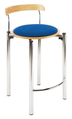 Bisro 78 High Stool With An Upholstered Seat