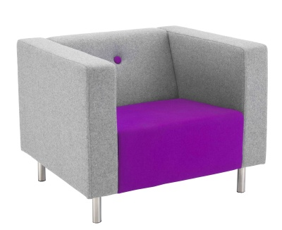 Bonus Contemporary Single Seater Sofa Front Angle