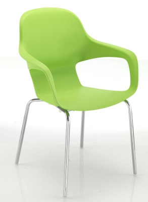 Ludo Four Leg Poly Armchair Front Angle