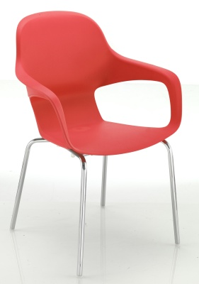 Ludo Chair In Red Front Angle