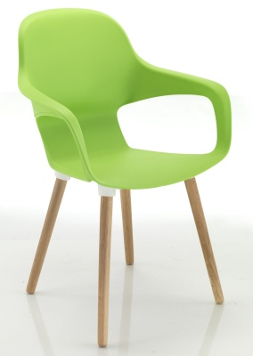 Ludo Chair With Beech Legs Front Angle