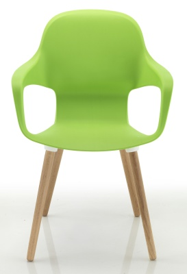 Ludo Chair With Wooden Legs Front View