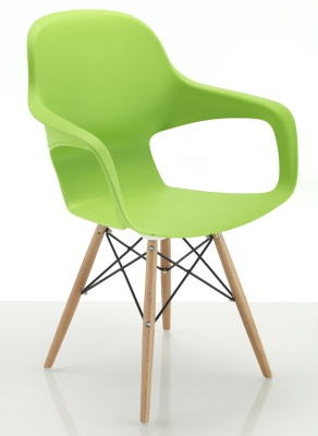 Ludo Chair With Eiffel Legs Front Angle