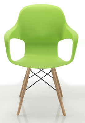Ludo Designer Poly Chair With Eiffel Legs Front Facing