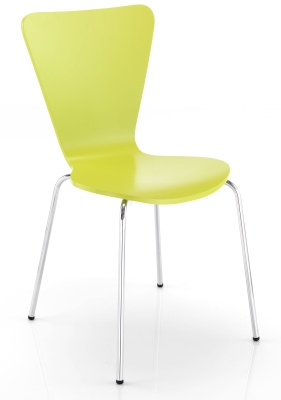 Keeler Plywood Chair Front Angle Green Finish