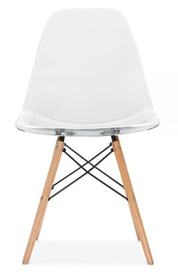 Eames Dsw Transparent Shell Front Face