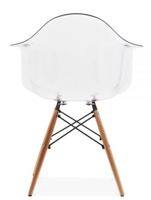 Daw Chair Transparent Seat Shell Rear View