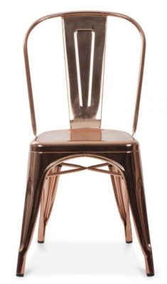 Xavier Pauchard Chair Front View Polished Gold Finish