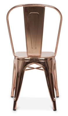 Xavier Pauchard Metal Industrial Chair In Polished Gold Rear View