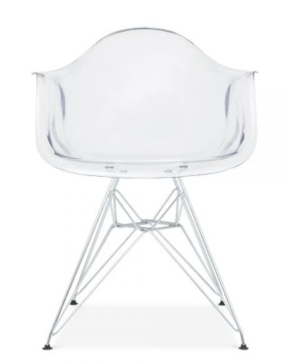 DAR Eames Chair With A Transparent Seatr Front Face Shot