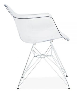 Eames DAR Chair With A Transparent Seat Side Shot