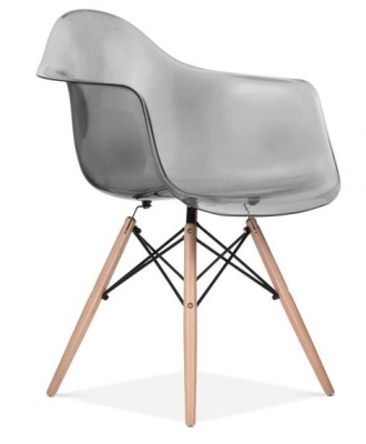 DAW Chair With A Smoke Grey Seat Front Angle