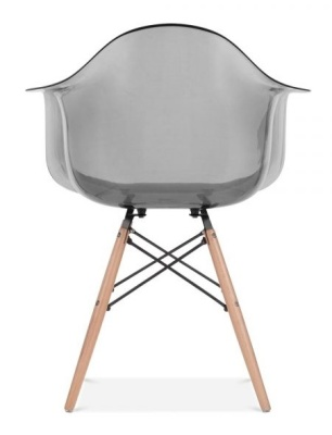 Daw Chair Smoked Grey Rear View