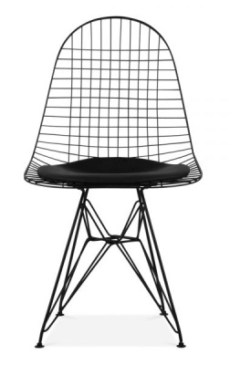 Eames Black DKR Chair Front Face