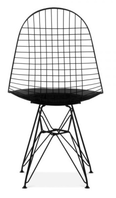 Eames Black Wire DKR Chair Rear View