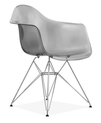 DAR Eames Chair With A Grey Smoked Shall Front Angle View