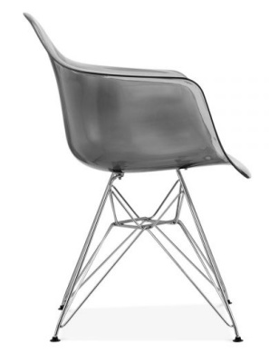 Eames DAR Chair With A Smoked Grey Shell Side View