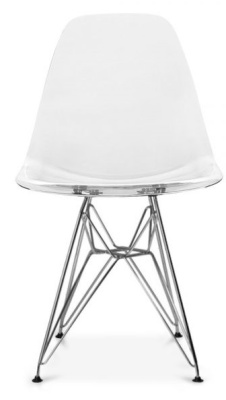 Eames DSR Chair With A Tansparent Shell Front Face