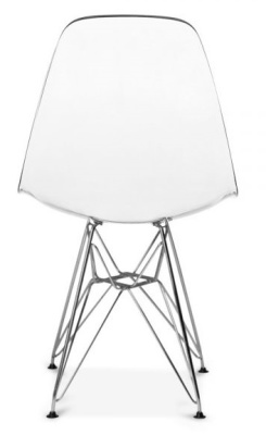 Eames Dsr Chair With A Transparent Seatv Rear View