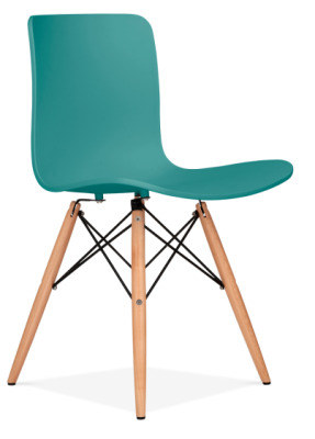 Vibra Poly Chair With A Teal Shell Front Angle