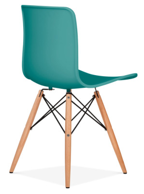 Vibra Eames Inpired Chair In Teal Rear Angle