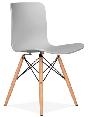 Vibra Chair With A Light Grey Seat Front Angle