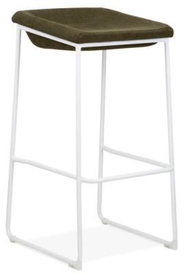 Kitsch High Stool With A White Frame Front Angle