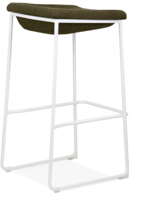 Kitsch High Stool White Frame Rear Angle