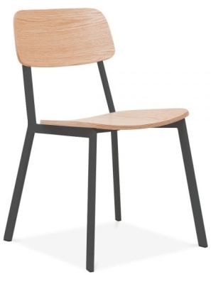 Rica Chair Widh A Black Frame Front Angle