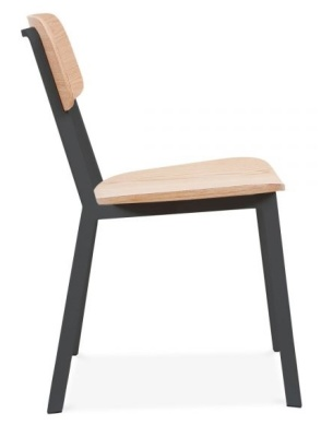 Rica Chair With Black Frame Side View