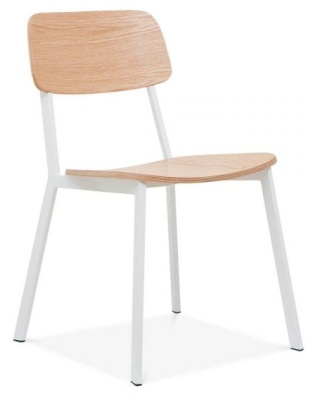 Rica Chair With A White Frame Front Angle