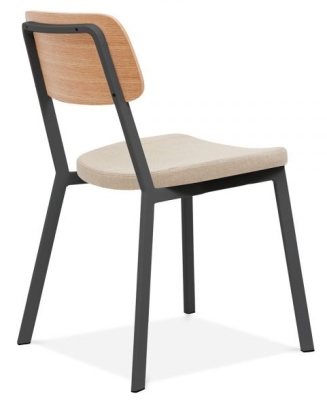 Rica Chair With A Cream Seat Rear Angle