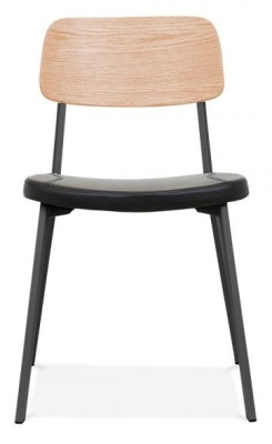 Rica Chair With A Charcoal Pu Seat Front View