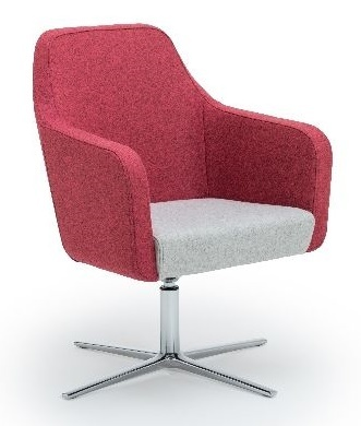 Hawk Designer Tub Chair With A Four Star Polished Base