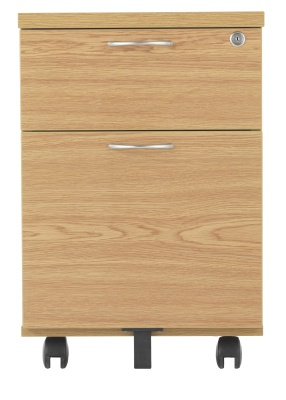 Riva Two Drawer Wooden Mbile Pedestal