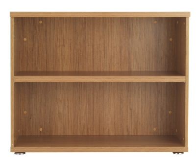 Reegency Low Bookcase Walnut Finish