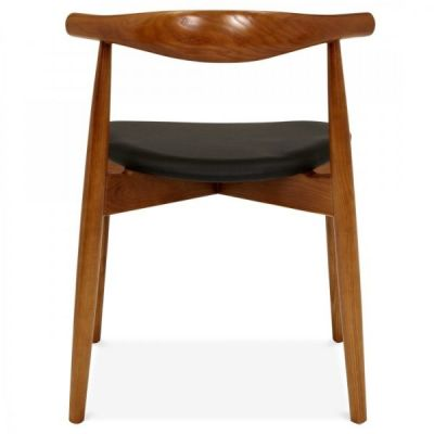 Elobow Chair With A Walnut Frame Rear View