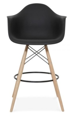 Eames DAW High Stool Black Seat Facing