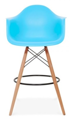 Eames Daw High Stool Light Blue Seart Face Shot