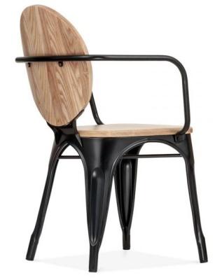 Louis Style Armchair Rear Angle Videw