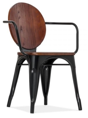 Louis Chair In Walnut Front Angle
