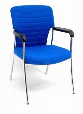 Trinity Meeting Chair With Hammock Style Back In Blue Fabric