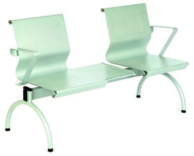 Mandino Steel Beam Seating With Modern Arched Leg And Arm Rests