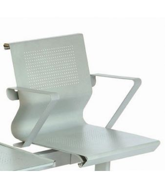 Mandino Steel Seat With Added Metal Arms
