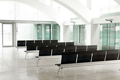 Corporate Meeting Room Using Transition Metal Beam Seating In Black