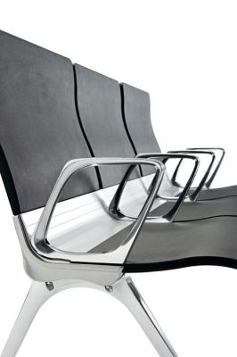 Black Transition Beam Chairs With Extruded Aluminium Central Beam